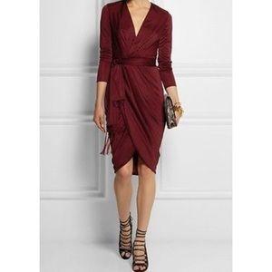 Altuzarra for Target Burgundy Draped Long Sleeve
